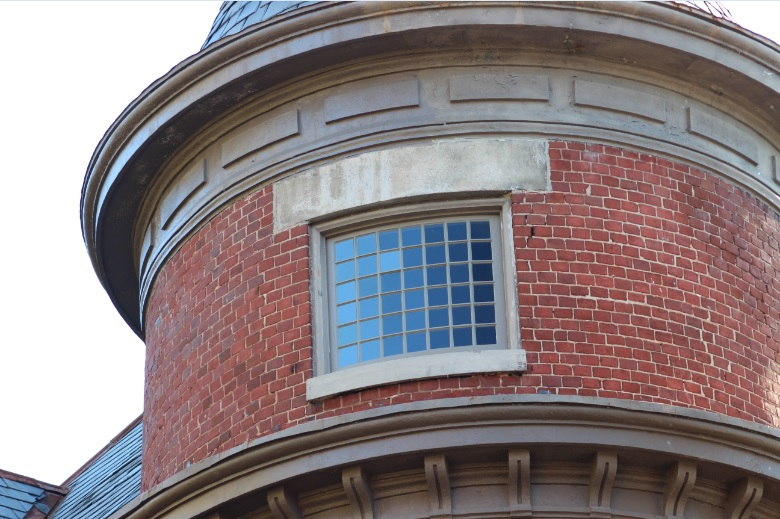 100 Year Old Turret - Reconditioned Sash Using All Old Glass