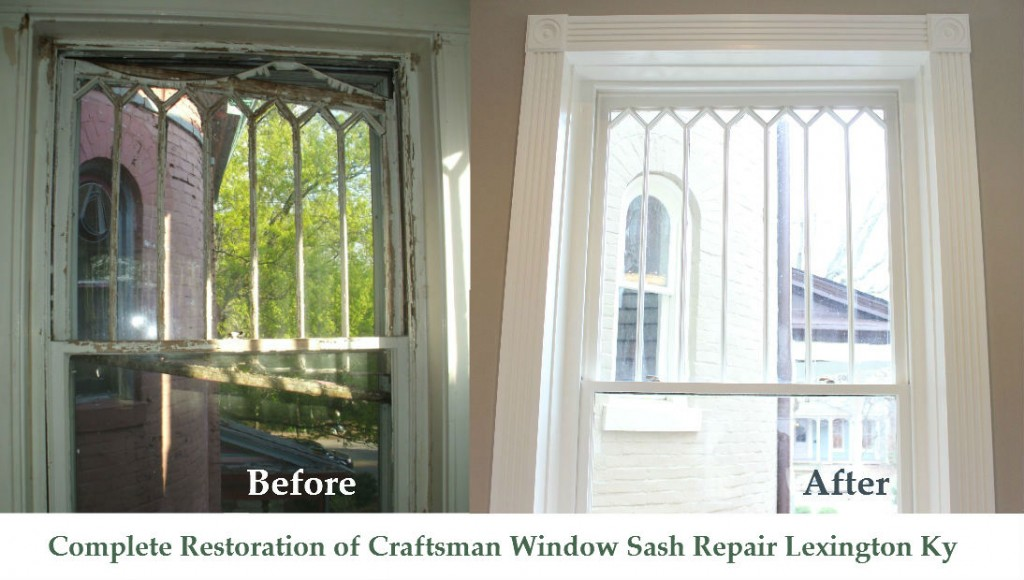Complete Restoration of Craftsman Window Sash Repair Lexington Ky