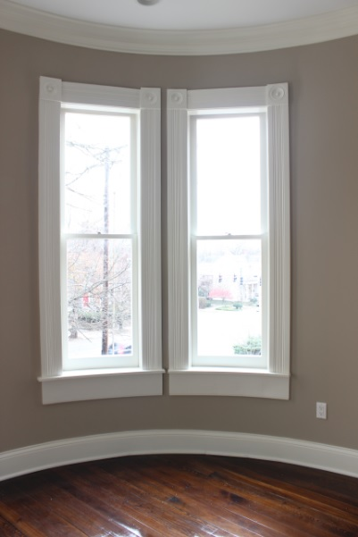Fully Restored Curved Sash with Curved Glass in Early 1900's Home Downtown Lexington KY