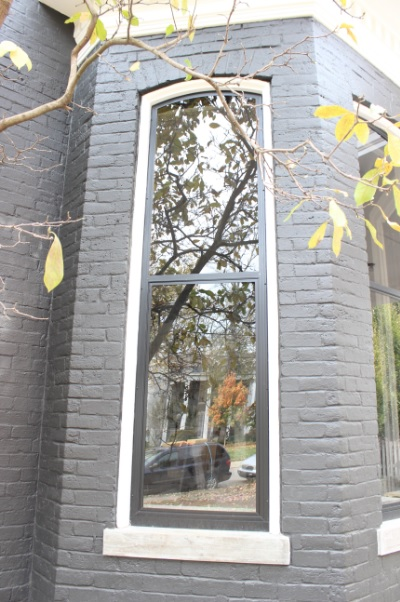 Historic Storm Window in Black Finish Lexington Ky