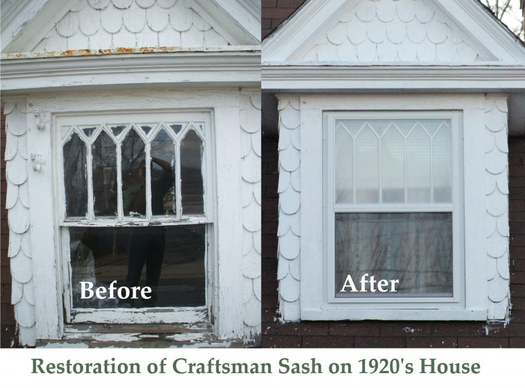 Restoration of Craftsman Sash on 1920's House