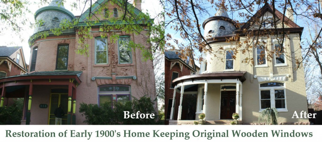 Restoration of Early 1900's Home Keeping Original Wooden Windows