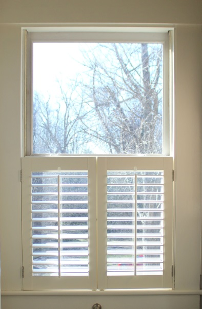 Custom wood shutters storm windows and window for Window treatments for double hung windows