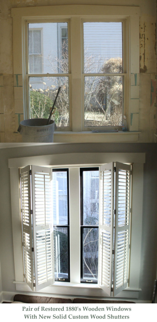 before and after of san benito wooden shutters lexington ky