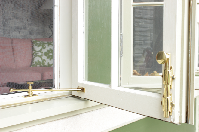 brass hardware for residential wood window sash repair
