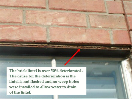Brick Deterioration and Copper Drip Flashing